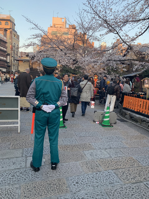 祇園白川さくらライトアップに伴う臨時警備