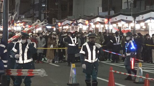 八坂神社 をけら詣り雑踏警備業務