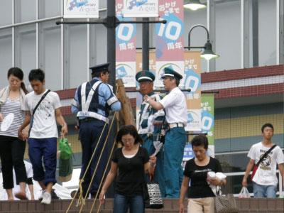 スタッフによる現地フォロー、警察関係機関との調整