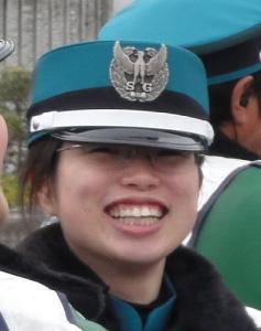 笑顔の警備